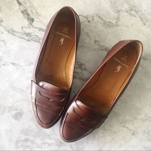 Ralph Lauren Brown Leather Penny Loafers Italy